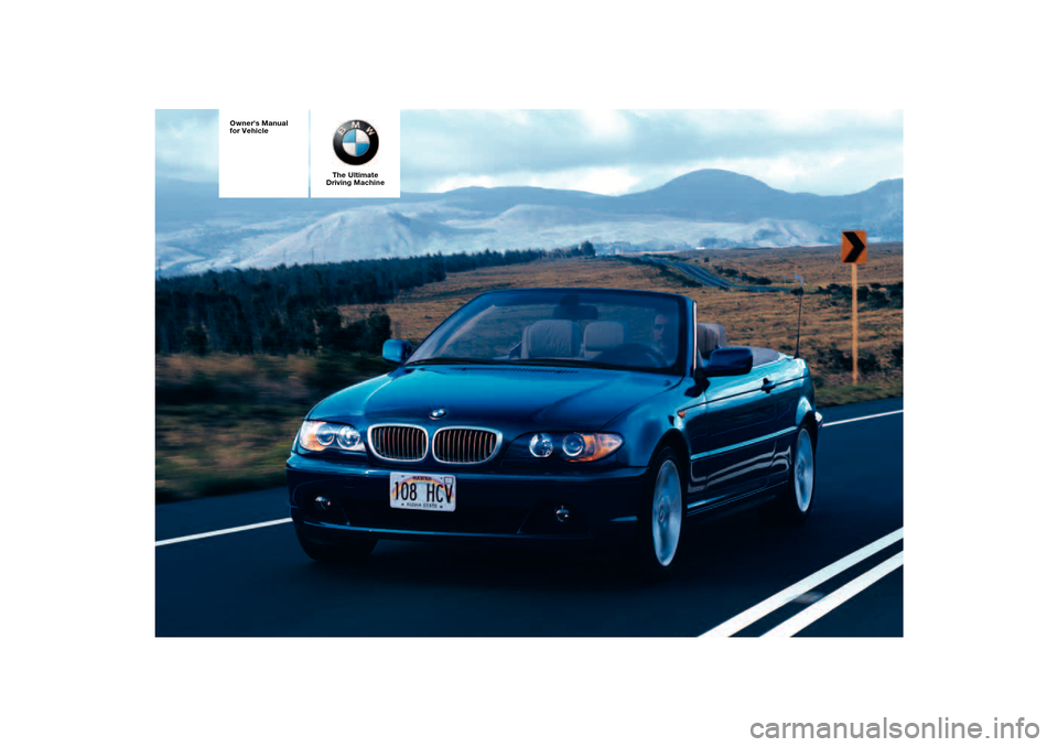 BMW 325CI COUPE 2005 E46 Owners Manual, Page 1