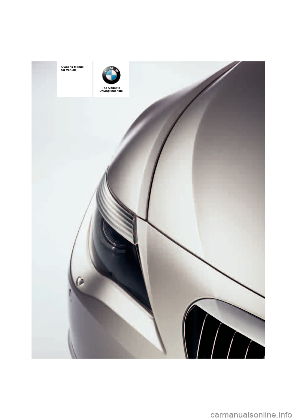 BMW 645CI COUPE 2004 E63 Owners Manual, Page 1