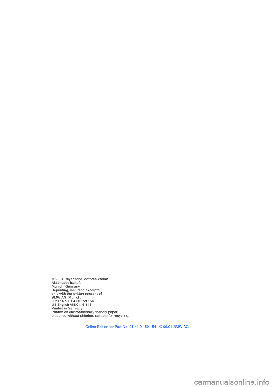 Bmw 745li 2005 e66 owners manual page 4