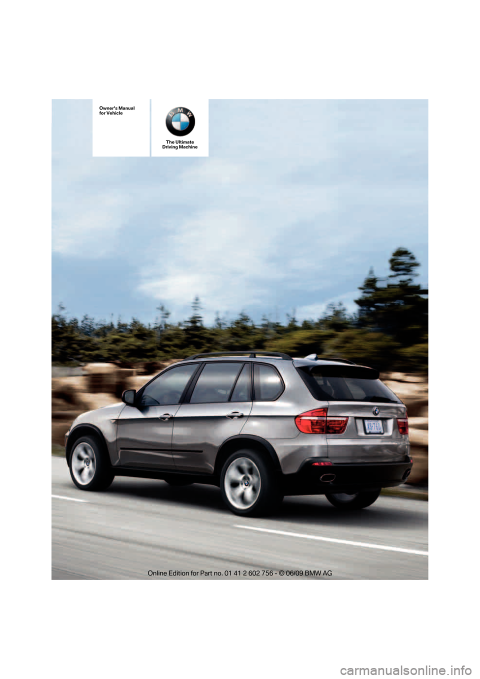 BMW X5 XDRIVE 48I 2010 E70 Owners Manual, Page 1