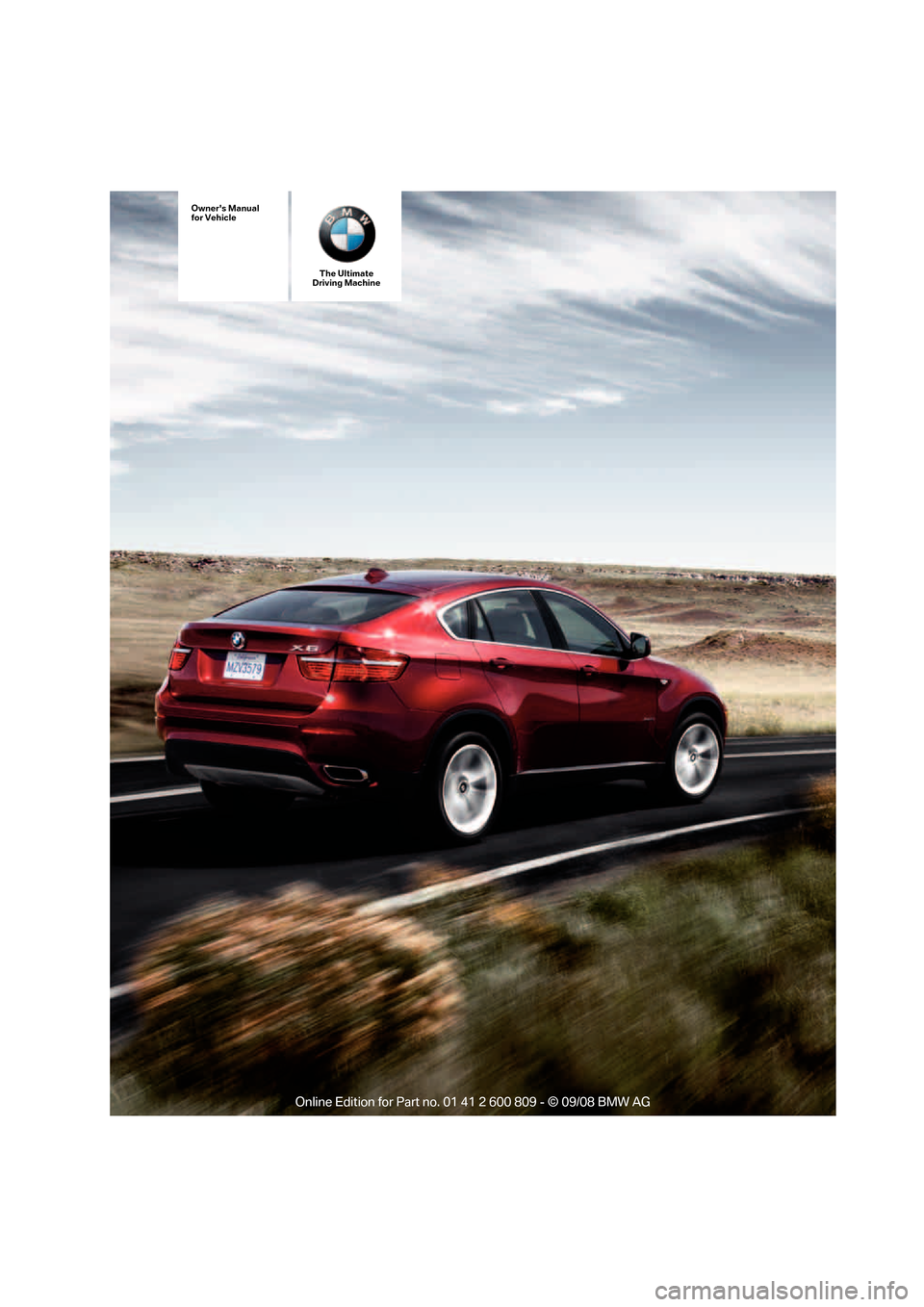 BMW X6 XDRIVE 2009 E71 Owners Manual, Page 1