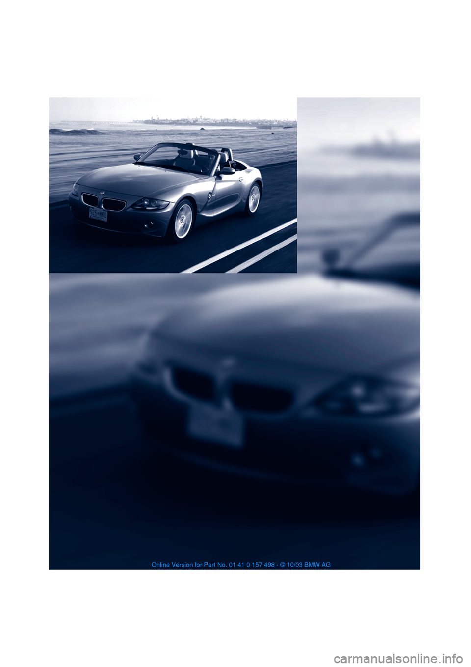 Bmw Z4 Roadster 3 0i 2004 E85 Owner S Manual