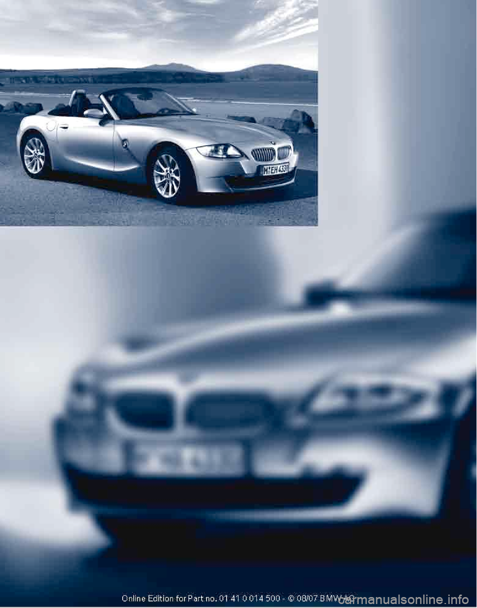 Bmw Z4 3 0i Roadster 2008 E85 Owner S Manual 132 Pages
