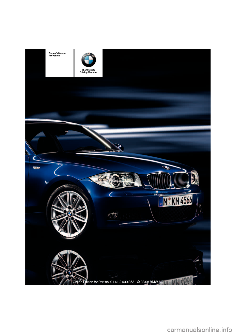 BMW 135I 2009 E88 Owners Manual, Page 1