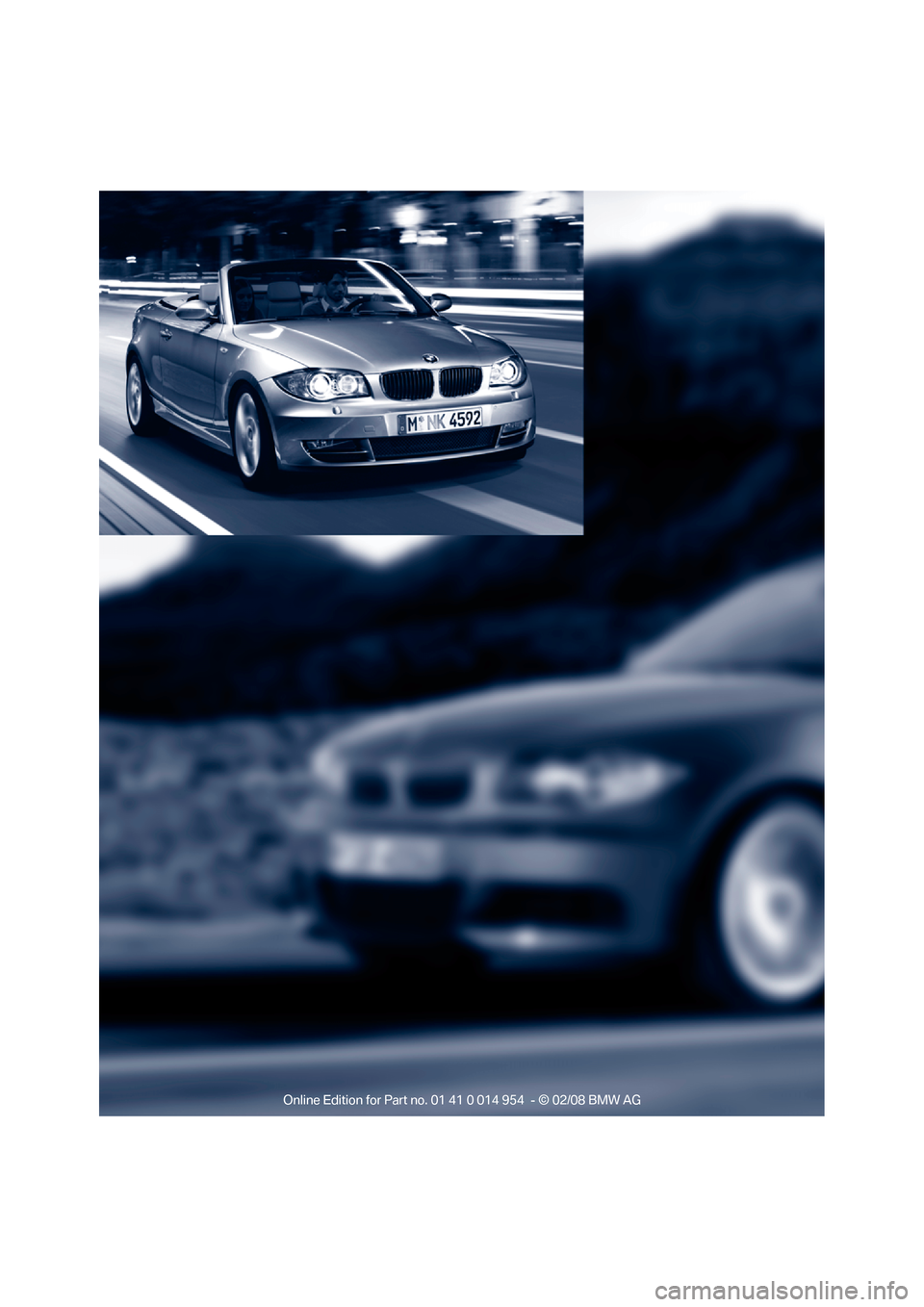 BMW 135I CONVERTIBLE 2008 E88 Owners Manual, Page 10
