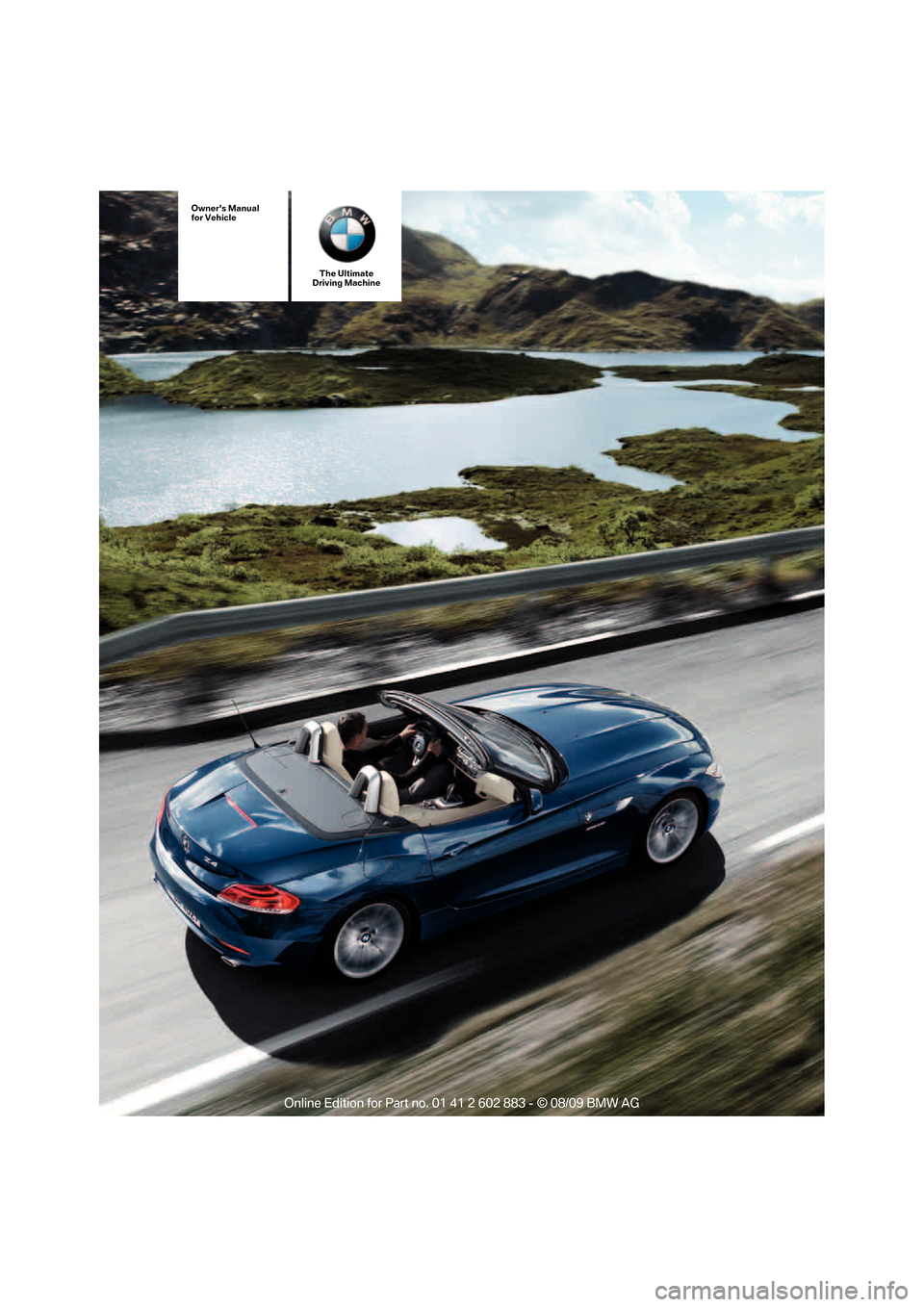 Bmw Z4 Roadster Sdrive35i 2010 E89 Owner S Manual