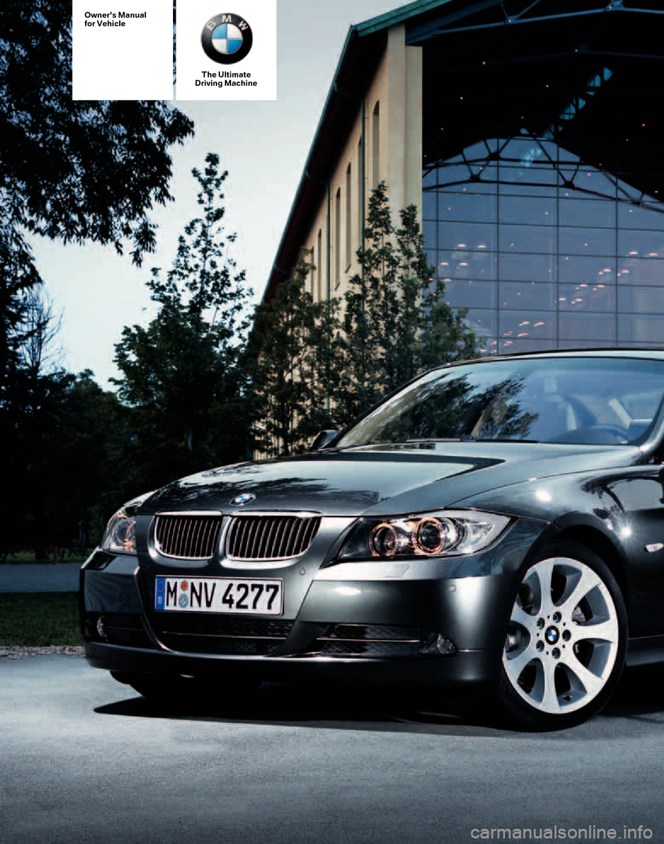 Bmw 328xi Sedan 2007 E90 Owner S Manual