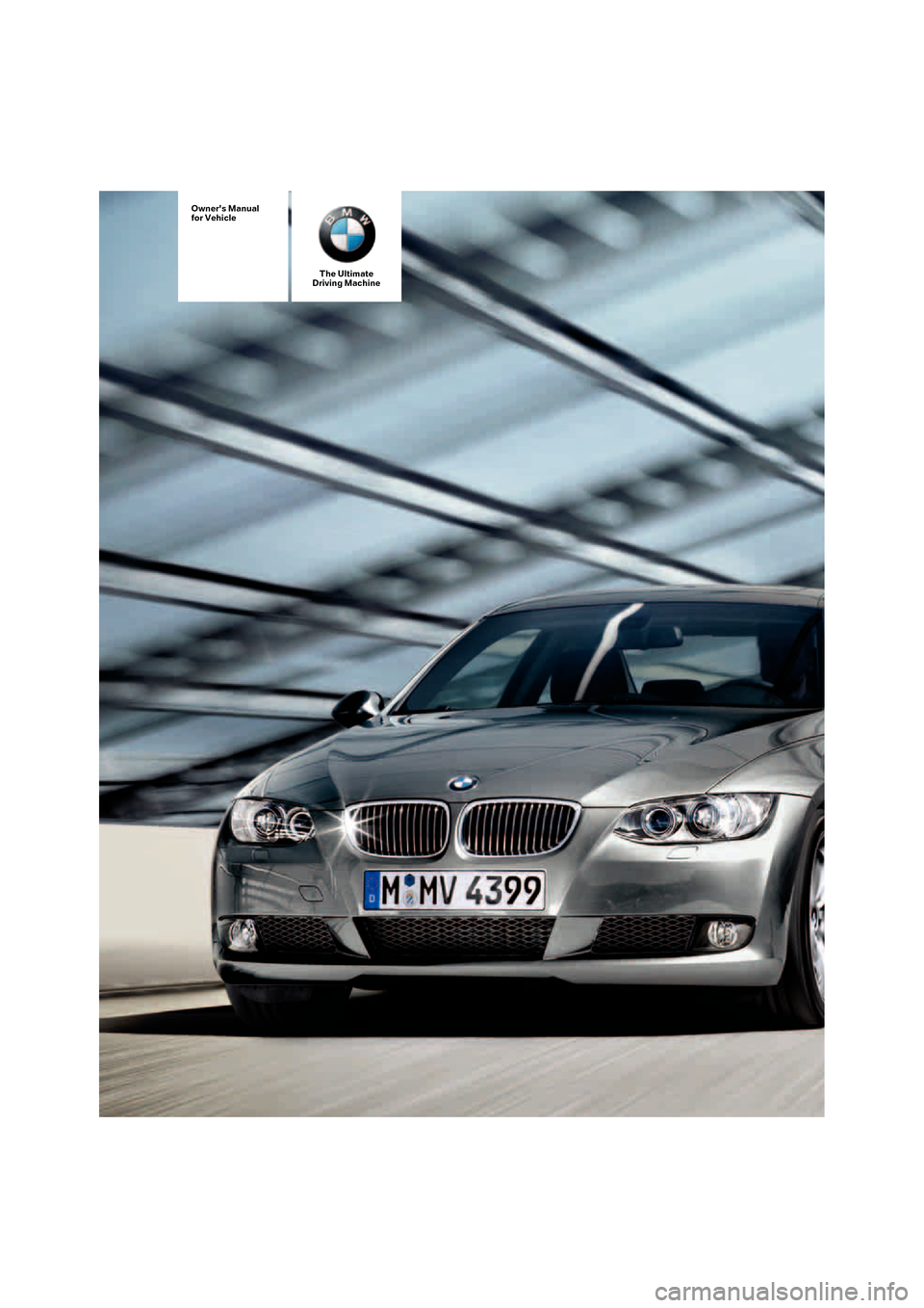 BMW 328I COUPE 2008 E92 Owners Manual, Page 1
