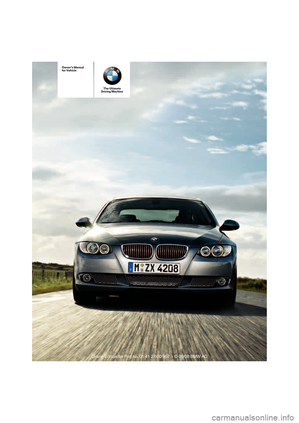 Bmw 335i Convertible 2009 E93 Owners Manual
