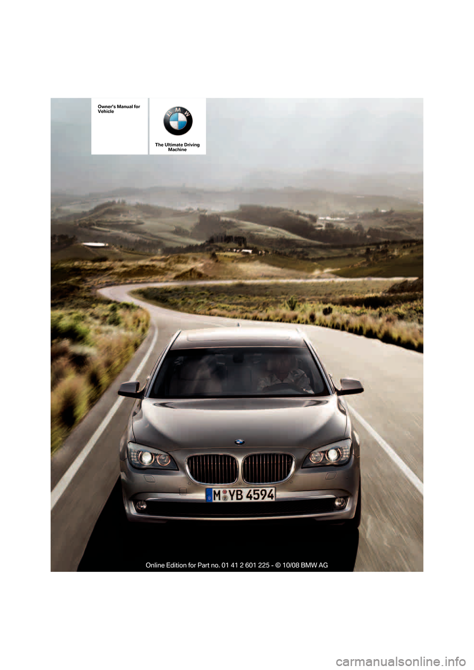 BMW 750I 2009 F01 Owners Manual, Page 1