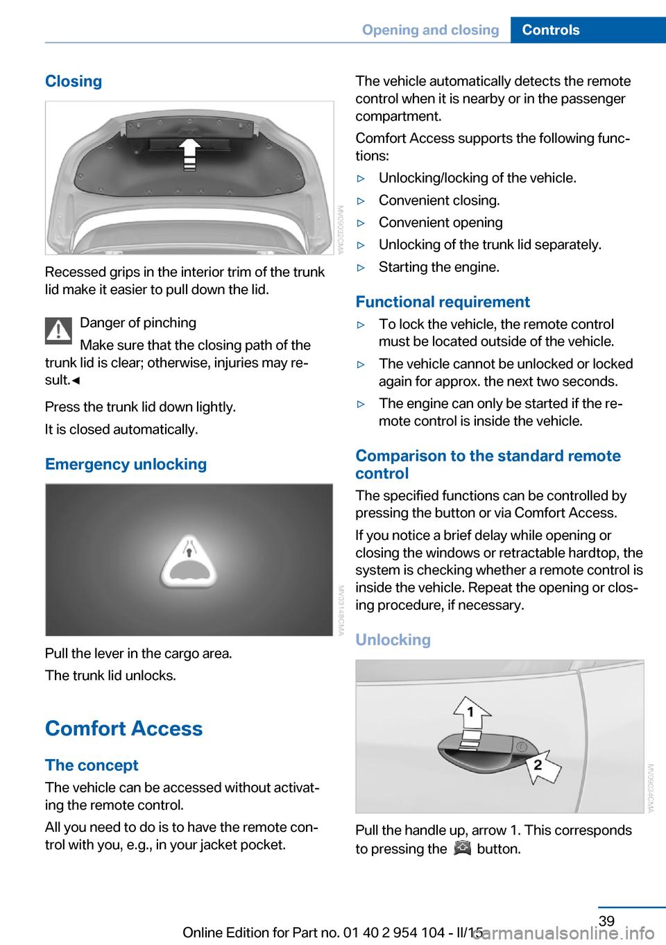 Bmw Z4 2015 E89 Service Manual