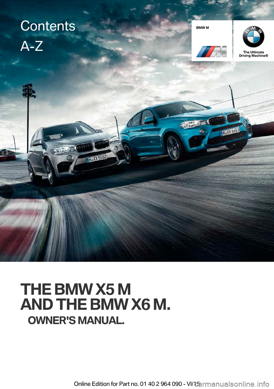 BMW X5M 2015 F85 Owners Manual, Page 1