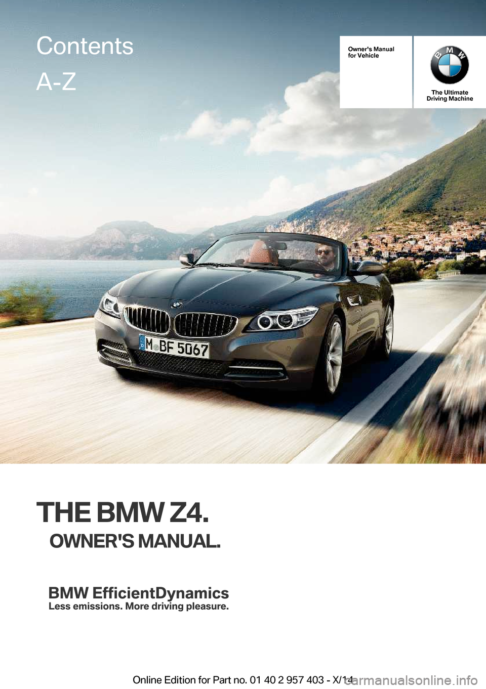 Bmw Z4 2016 E89 Owner S Manual