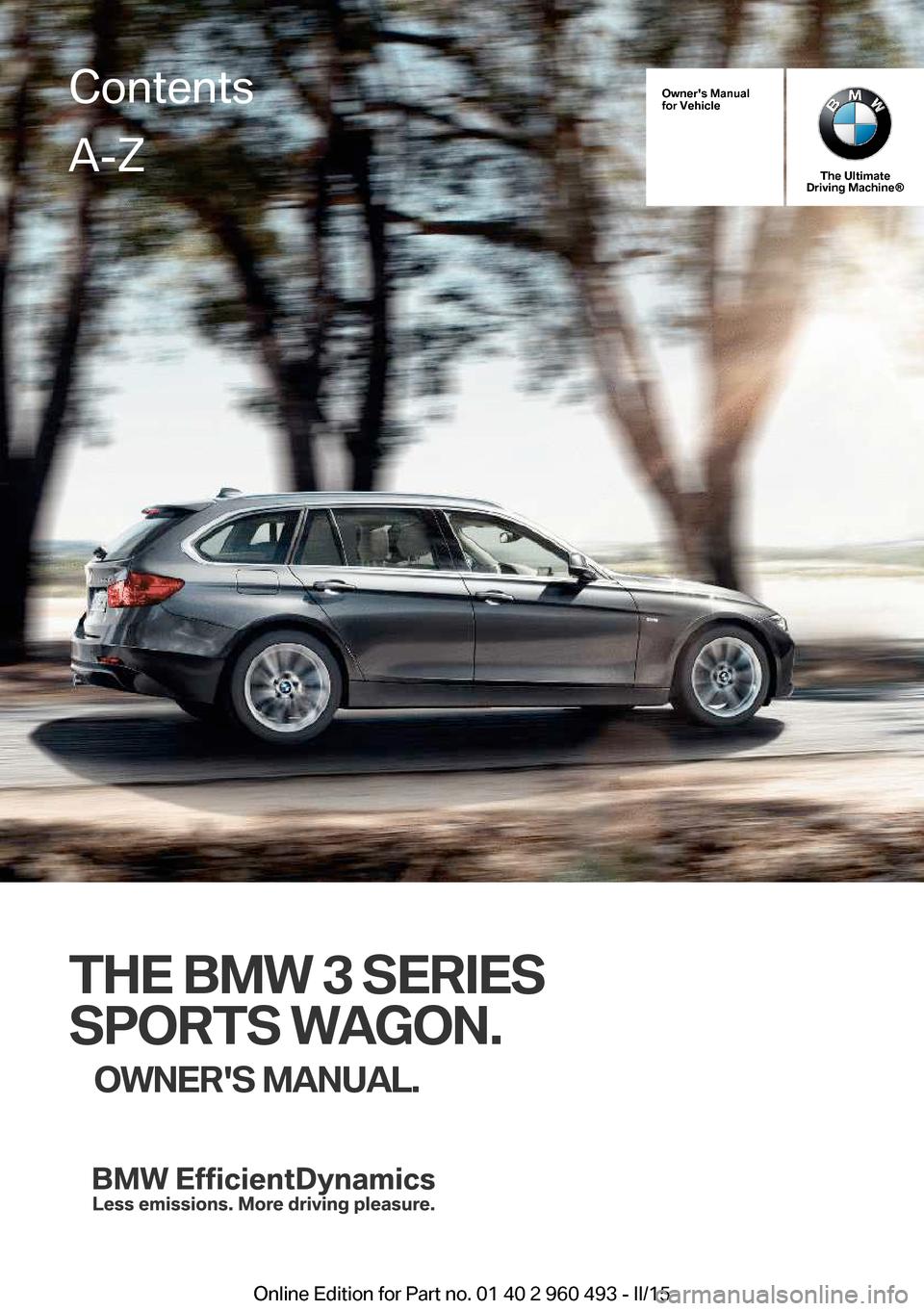 BMW SERIES SPORTS WAGON F Owners Manual - Bmw 3 series sports wagon