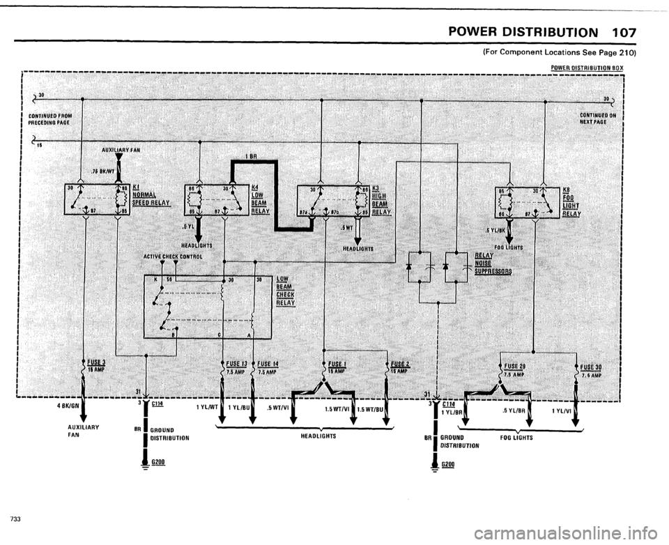 BMW 733i 1984 E23 Electrical Troubleshooting Manual