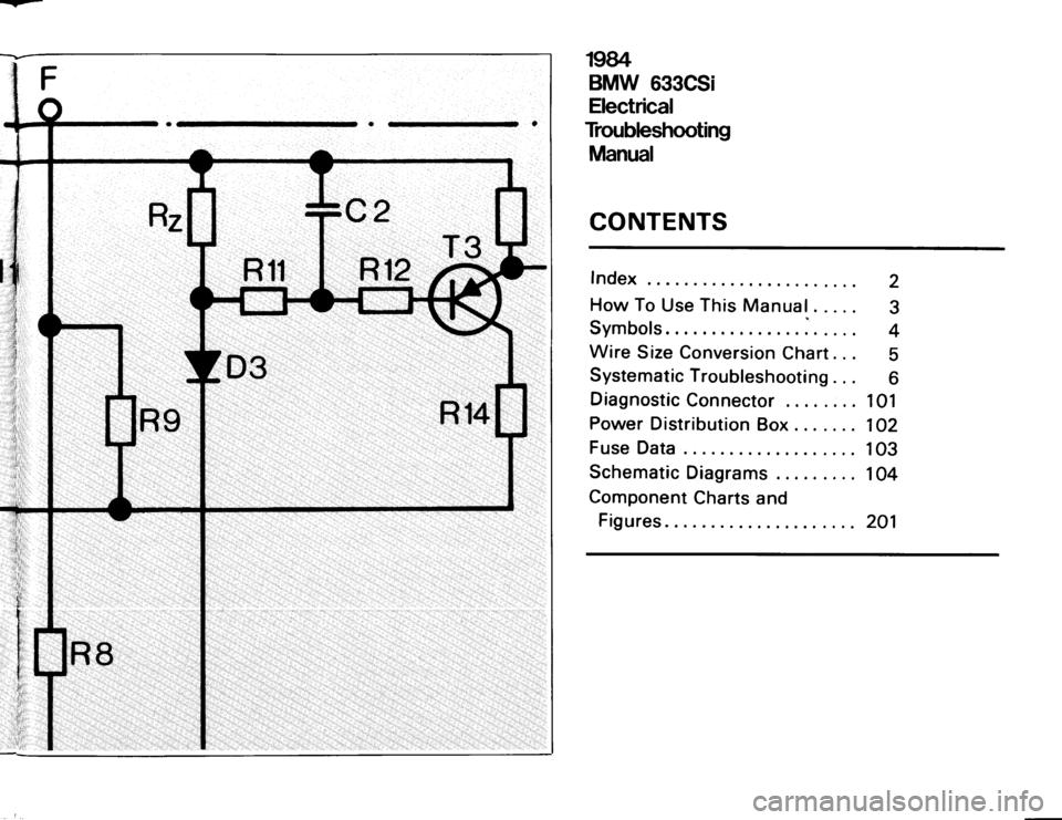 bmw 633csi 1984 e24 electrical troubleshooting manual