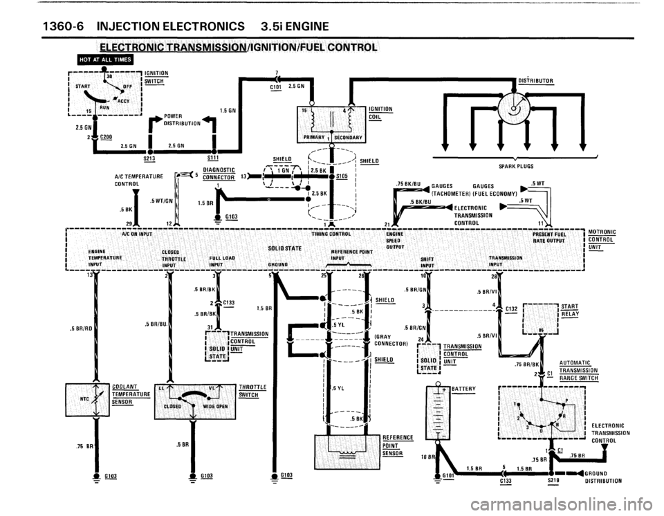 Bmw M6 1987 E24 Electrical Troubleshooting Manual