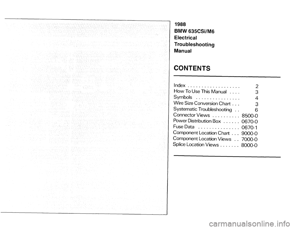 BMW 635csi 1988 E24 Electrical Troubleshooting Manual, Page 3