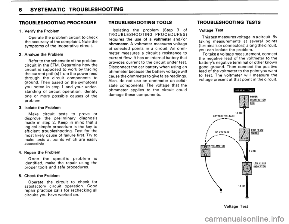 BMW 635csi 1988 E24 Electrical Troubleshooting Manual, Page 8