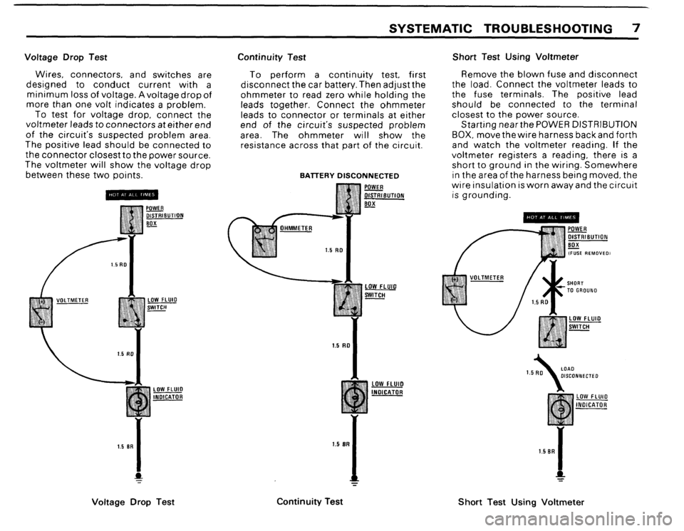 BMW 635csi 1988 E24 Electrical Troubleshooting Manual, Page 9