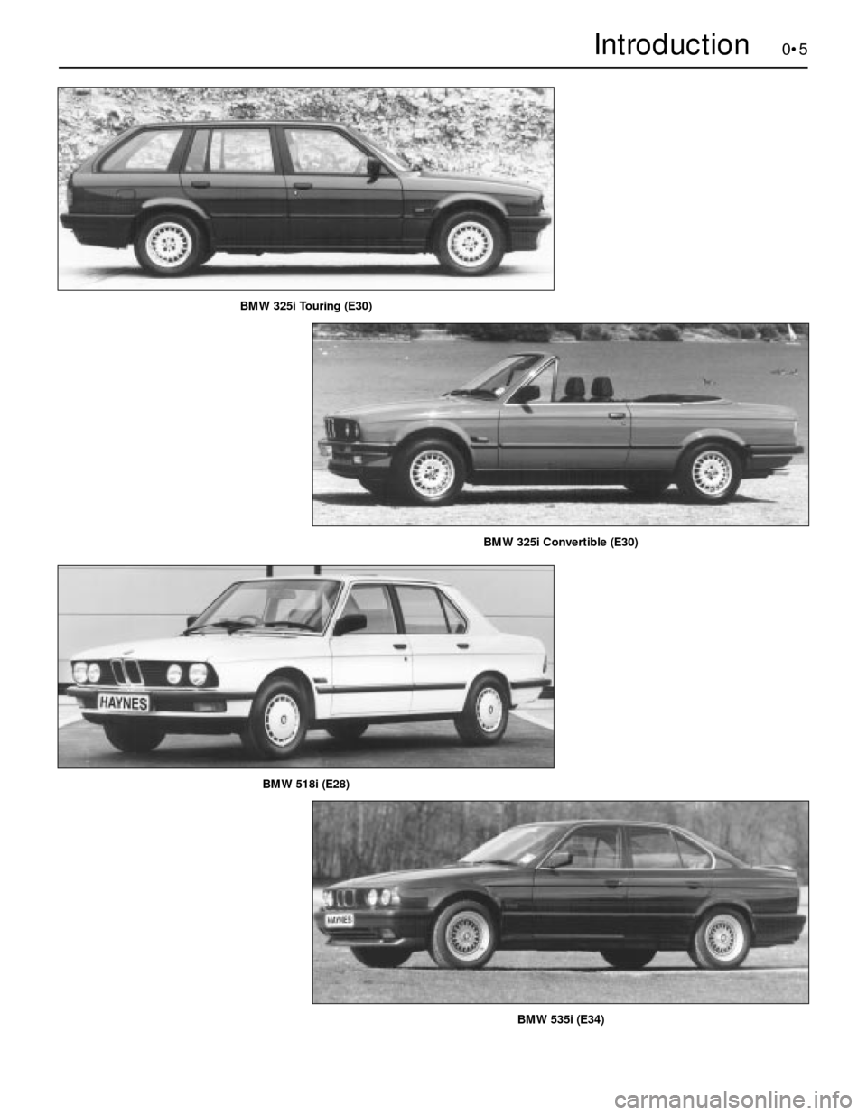 BMW 5 SERIES 1989 E34 Workshop Manual, Page 5