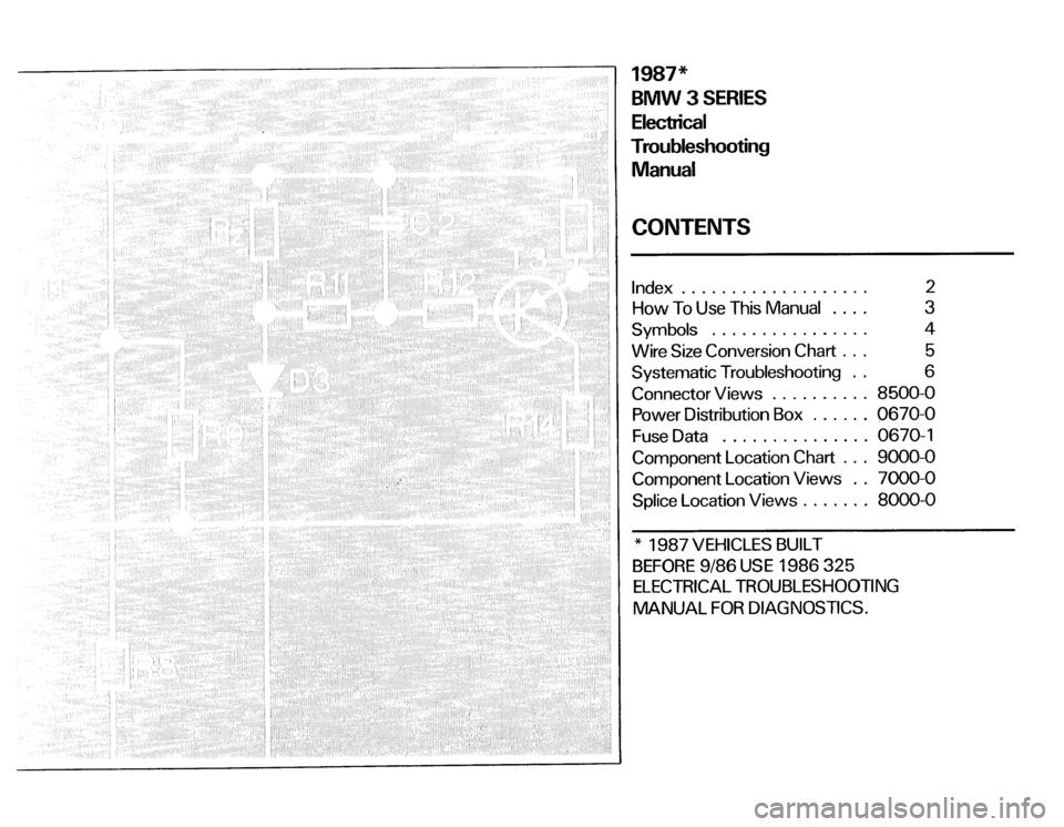 bmw 325i 1987 e30 electrical troubleshooting manual