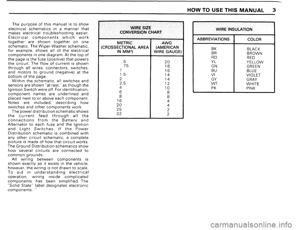 BMW 325i CONVERTIBLE 1988 E30 Electrical Troubleshooting Manual, Page 5