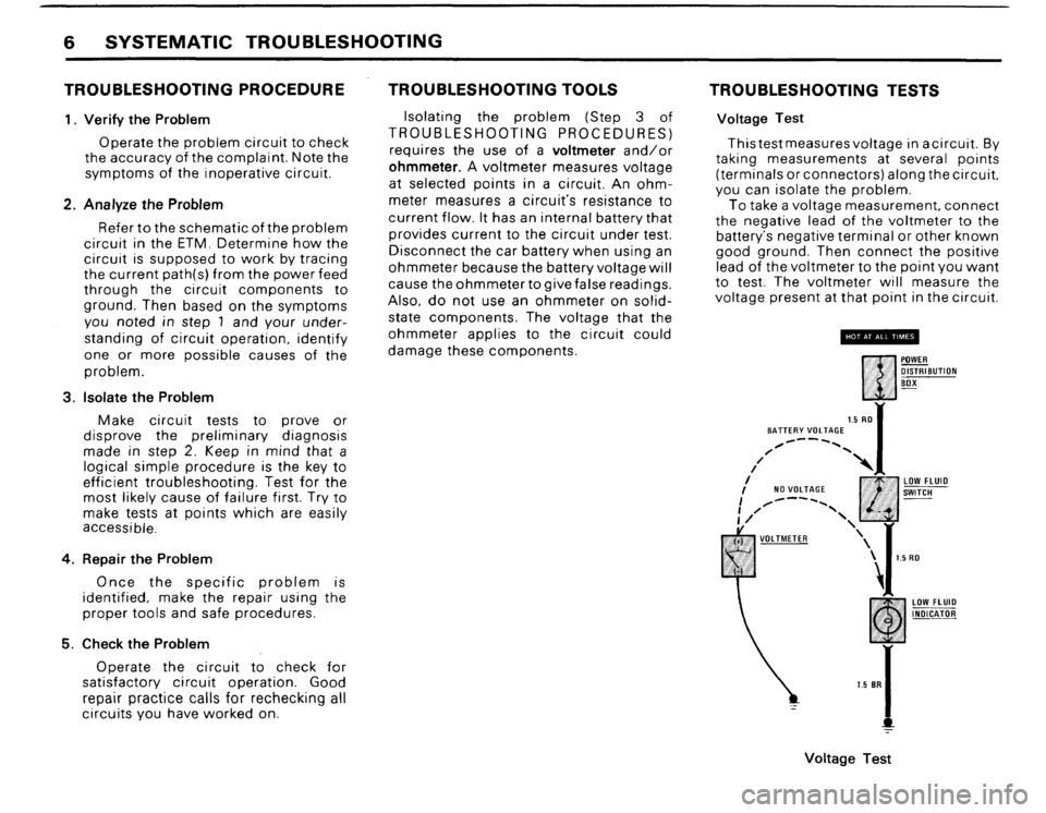 BMW 325i CONVERTIBLE 1988 E30 Electrical Troubleshooting Manual, Page 8