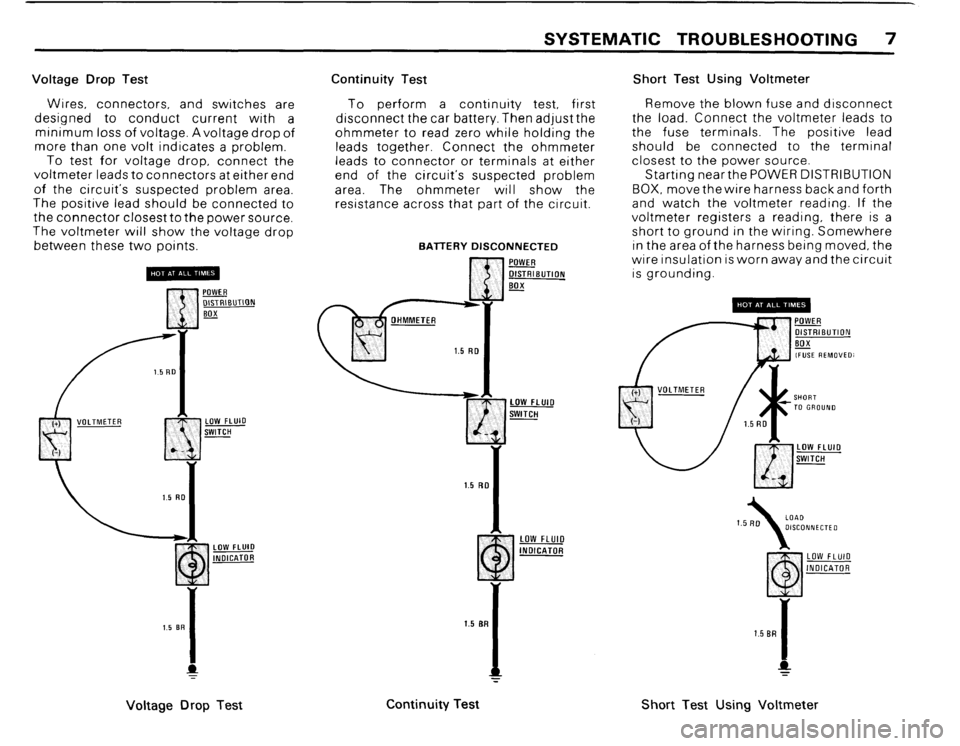 BMW 325i CONVERTIBLE 1988 E30 Electrical Troubleshooting Manual, Page 9
