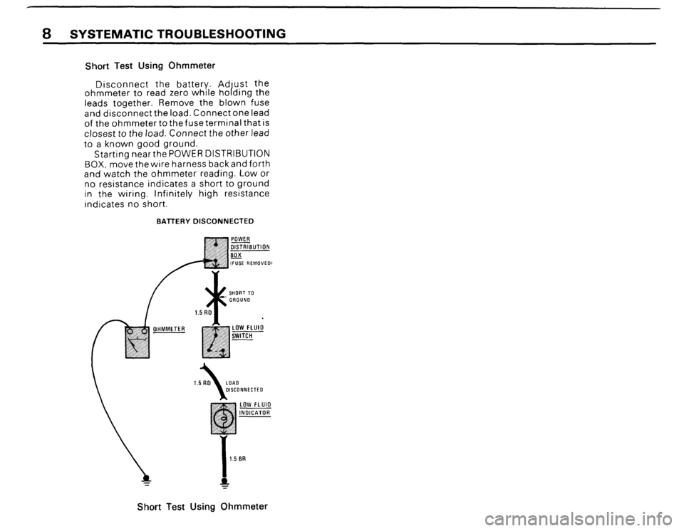 BMW 325i CONVERTIBLE 1988 E30 Electrical Troubleshooting Manual, Page 10