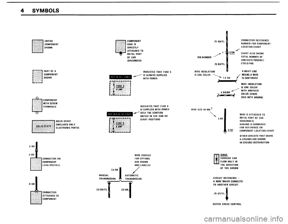BMW 325IX 1988 E30 Electrical Troubleshooting Manual, Page 6
