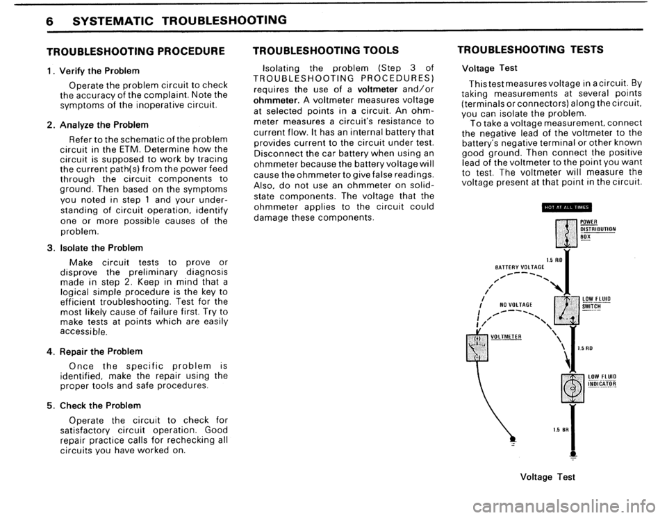 BMW 325IX 1988 E30 Electrical Troubleshooting Manual, Page 8