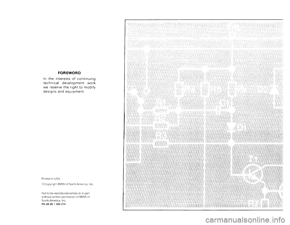 BMW M3 1988 E30 Electrical Troubleshooting Manual, Page 2