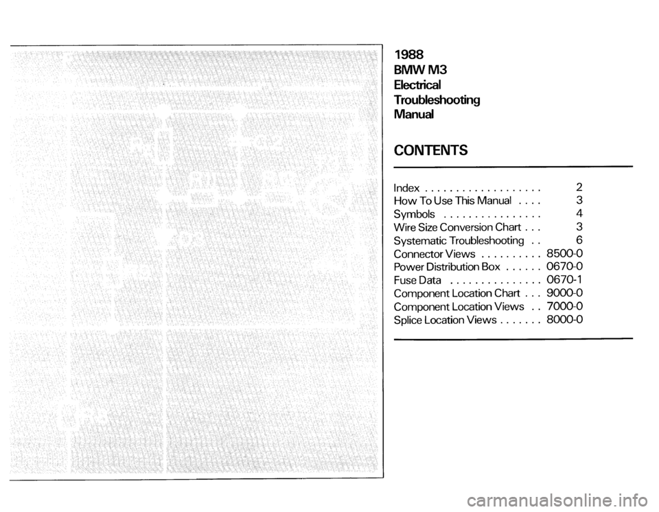 BMW M3 1988 E30 Electrical Troubleshooting Manual, Page 3