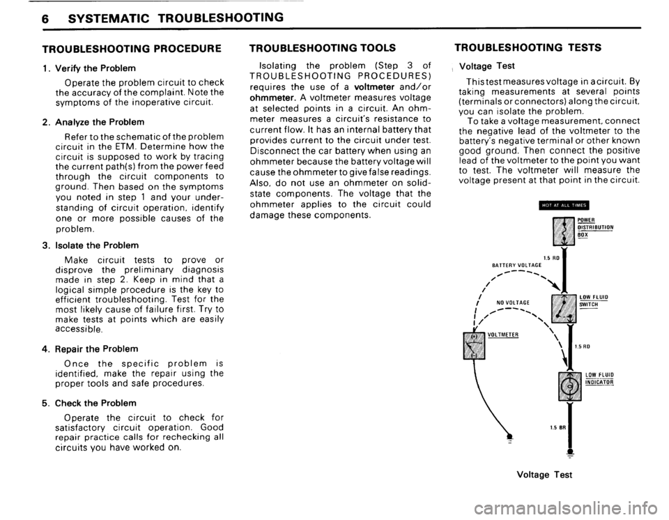 BMW M3 1988 E30 Electrical Troubleshooting Manual, Page 8
