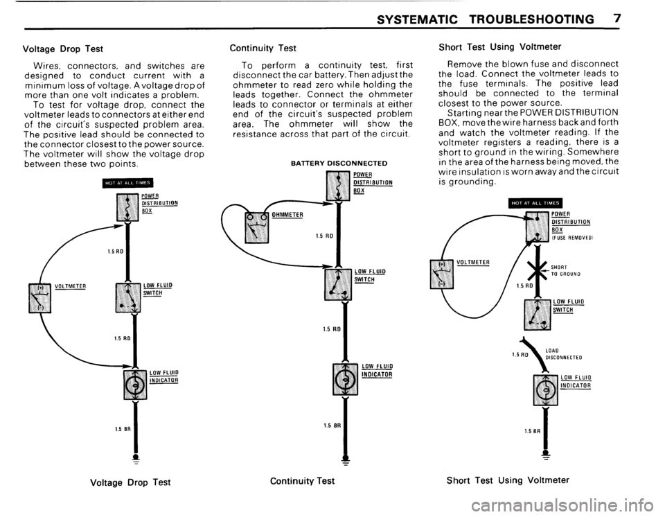 BMW M3 1988 E30 Electrical Troubleshooting Manual, Page 9