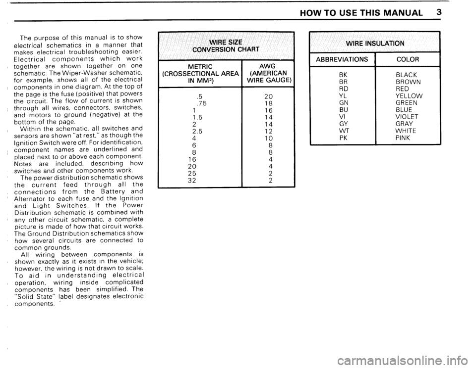 BMW 325i 1989 E30 Electrical Troubleshooting Manual, Page 6
