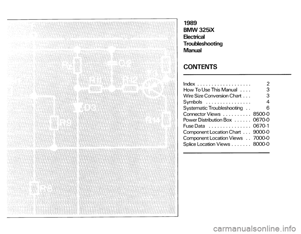 BMW 325ix 1989 E30 Electrical Troubleshooting Manual, Page 3