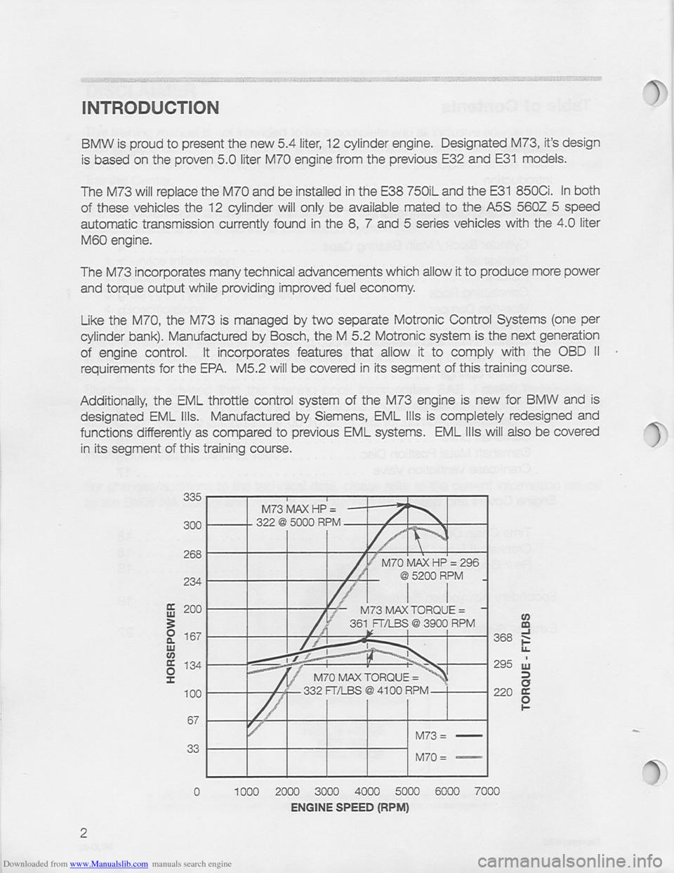 Bmw 850i 1994 E31 M73 Training Reference Manual 850 Engine Diagram