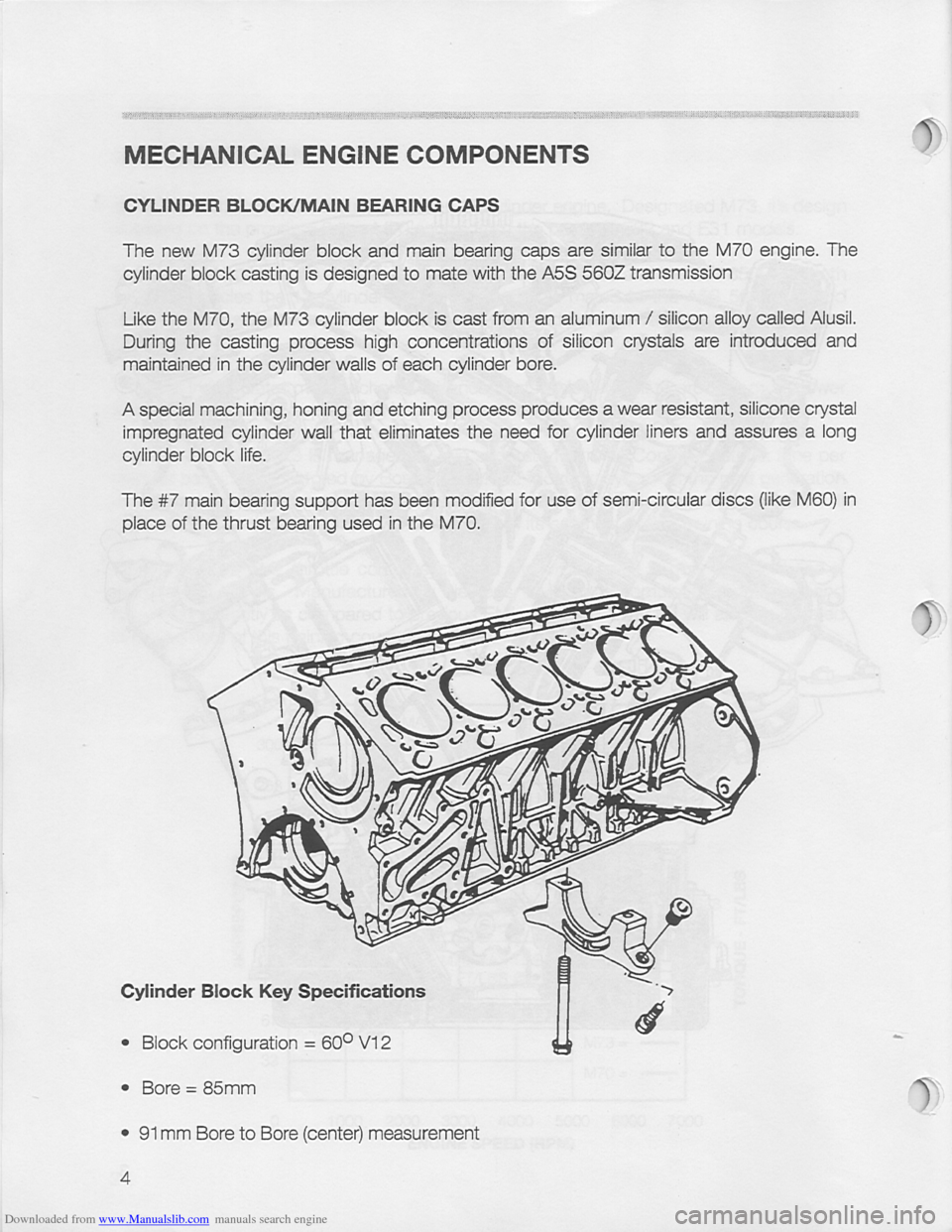 Bmw 850i 1994 E31 M73 Training Reference Manual V12 Engine Diagram