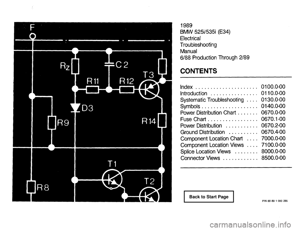 BMW 535i 1989 E34 Electrical Troubleshooting Manual, Page 1