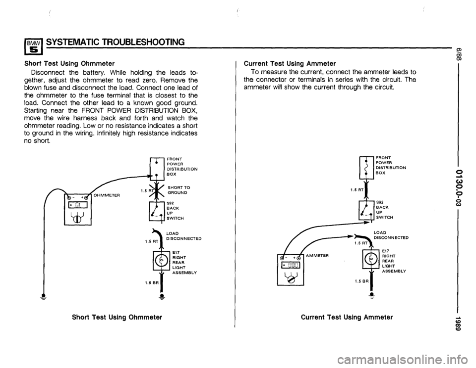 BMW 535i 1989 E34 Electrical Troubleshooting Manual, Page 9