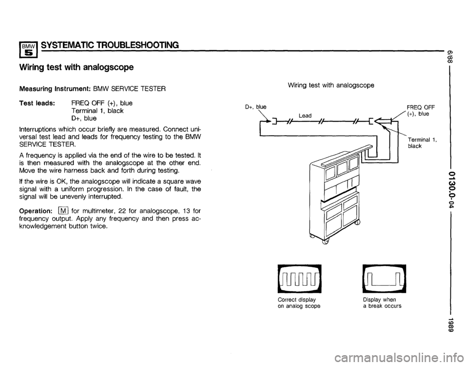 BMW 535i 1989 E34 Electrical Troubleshooting Manual, Page 10