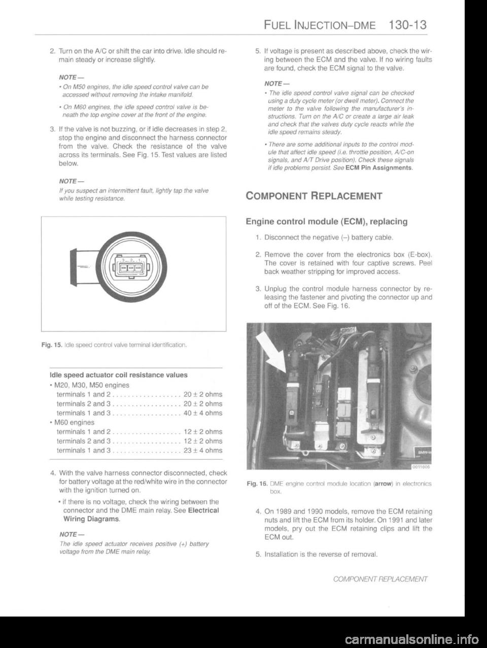 Bmw 530i 1989 E34 Workshop Manual Fuse Box