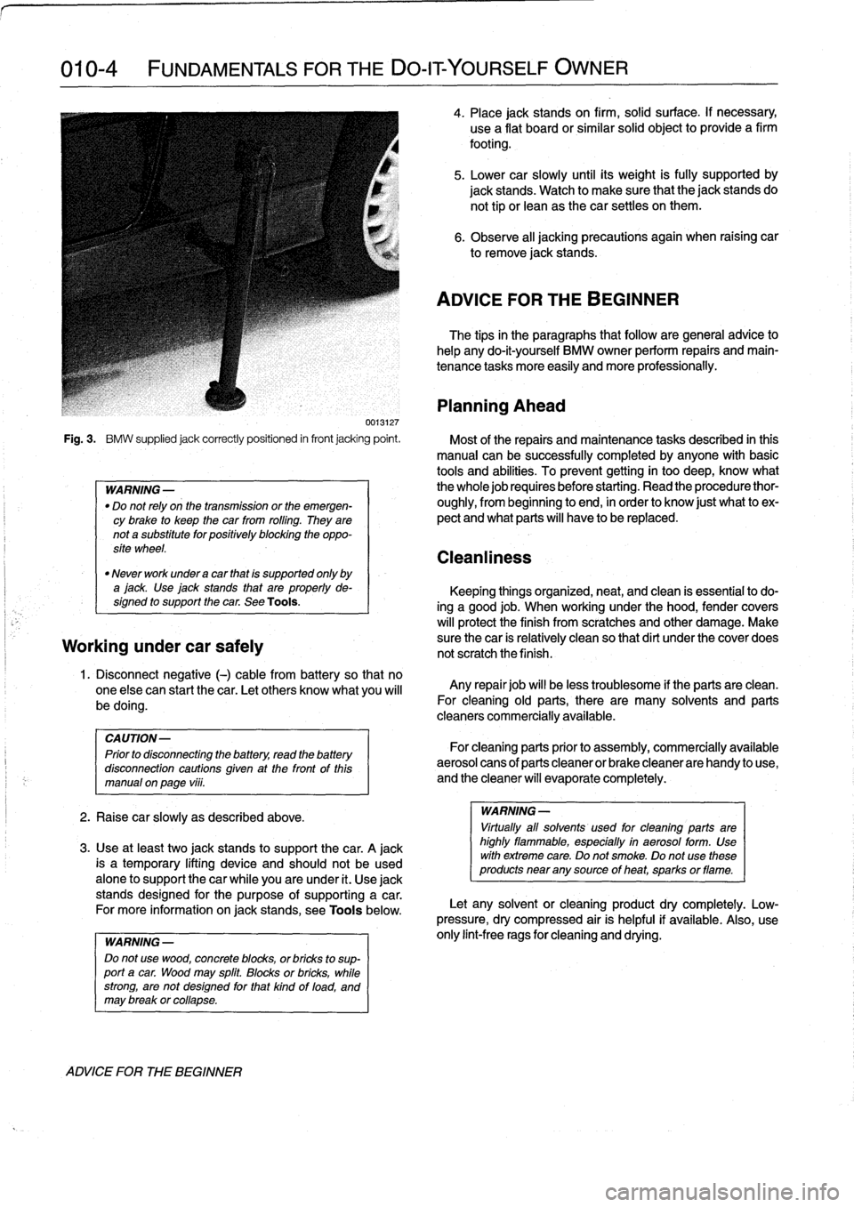 BMW 323i 1993 E36 Workshop Manual, Page 12