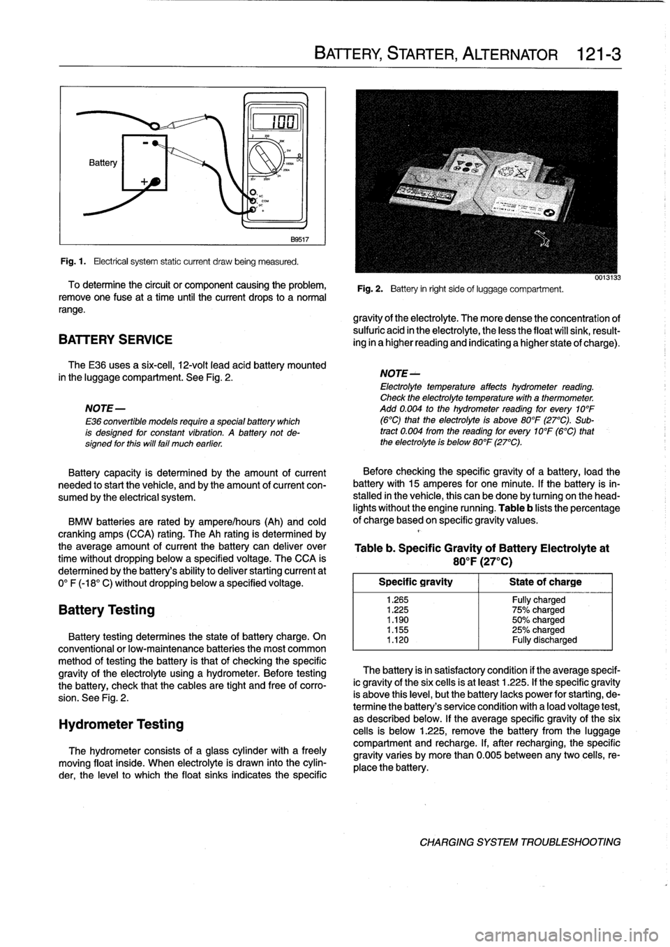 BMW 323i 1993 E36 Workshop Manual, Page 139