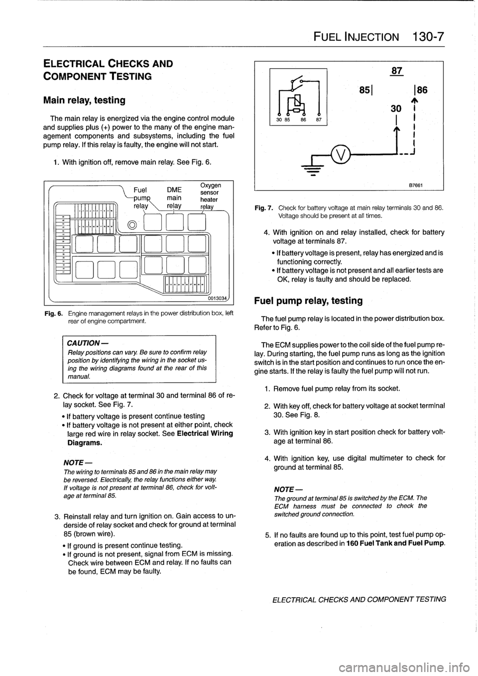 Battery Bmw 318i 1996 E36 Workshop Manual Wiring Diagram Relay 85 And 86 Use