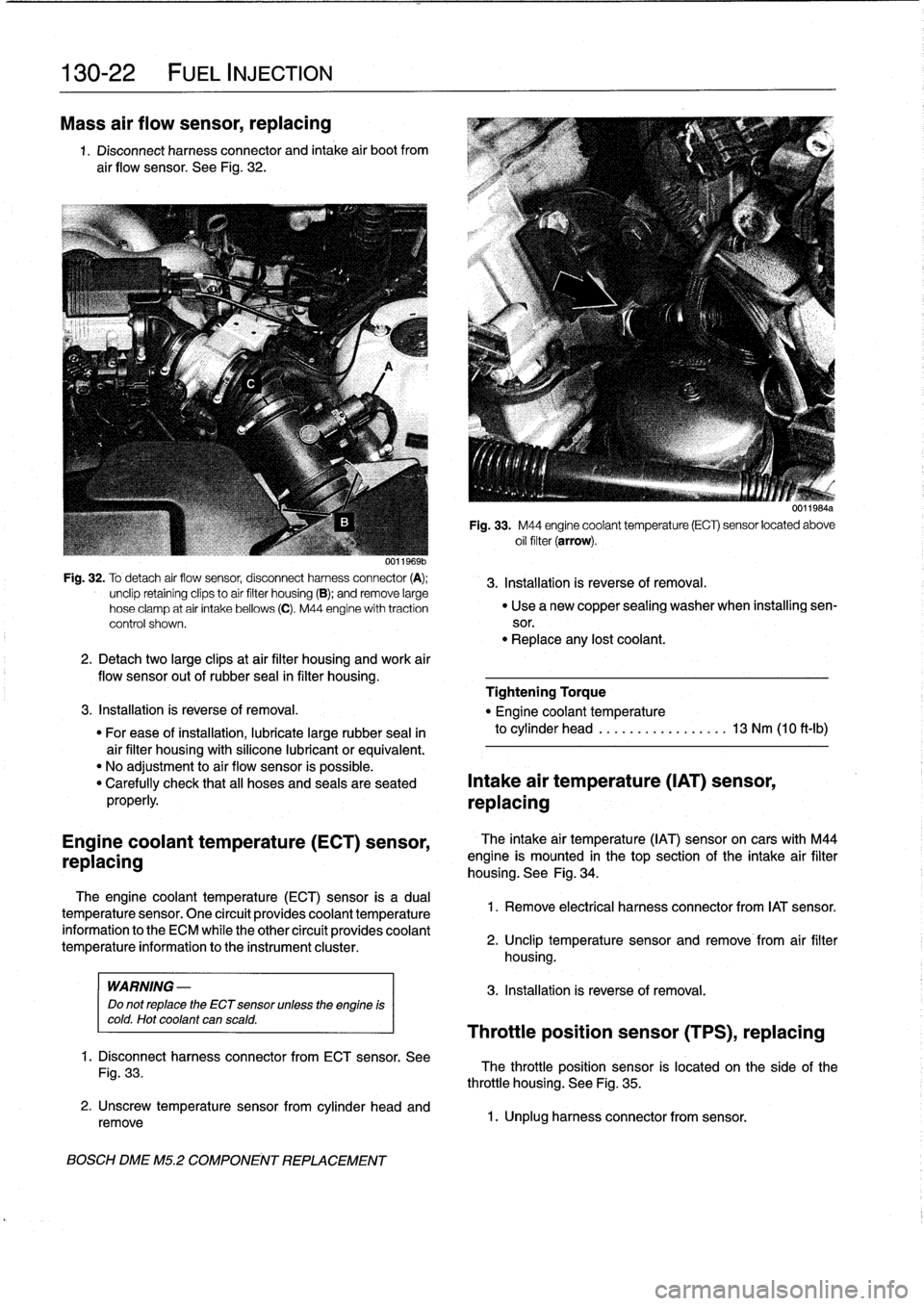 Oil Filter Bmw 325i 1994 E36 Workshop Manual Fig 2 Engine Coolant Temperature Ect Sensor Wiring Diagram