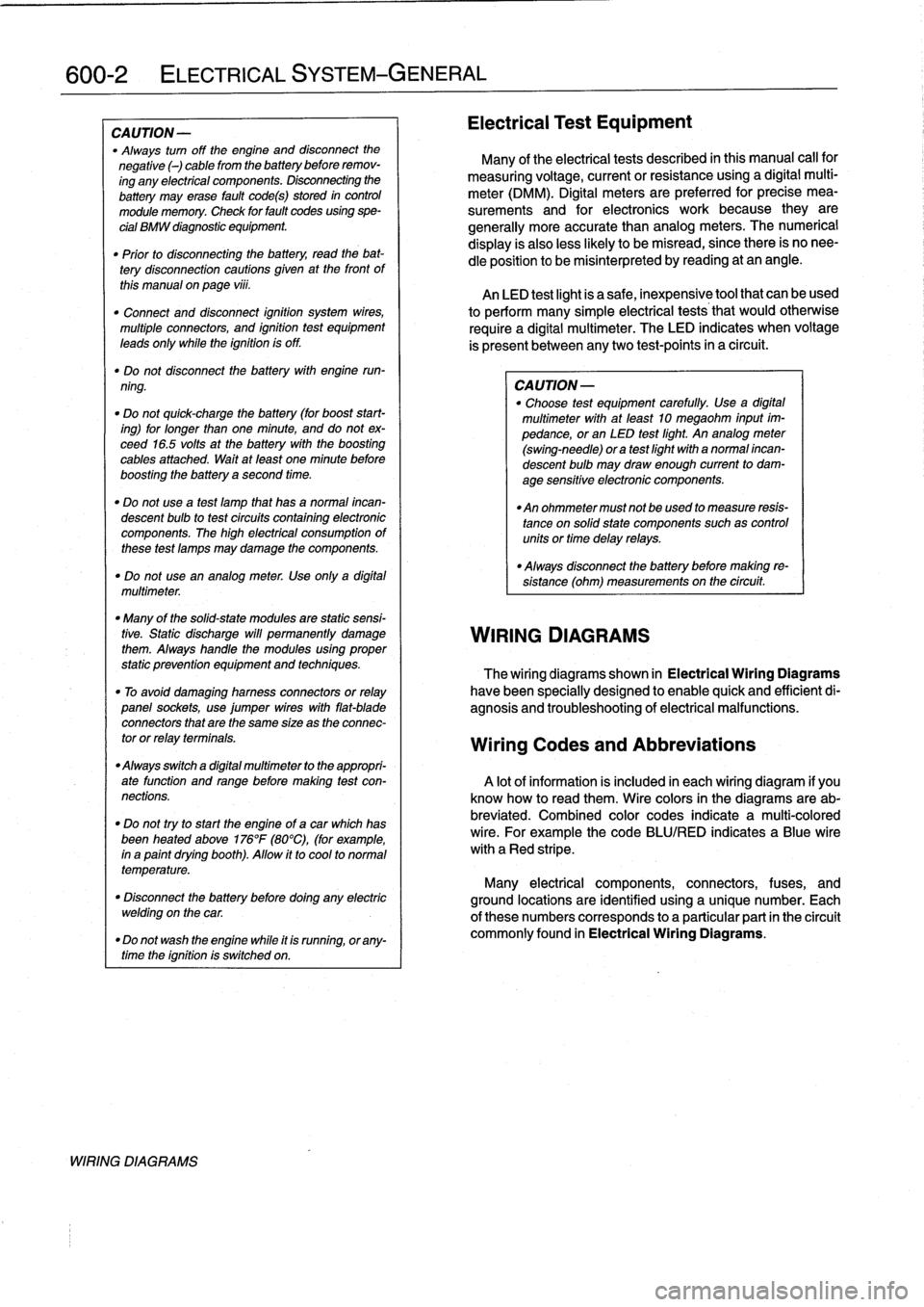 Bmw 323i 1996 E36 Workshop Manual Wiring Diagram