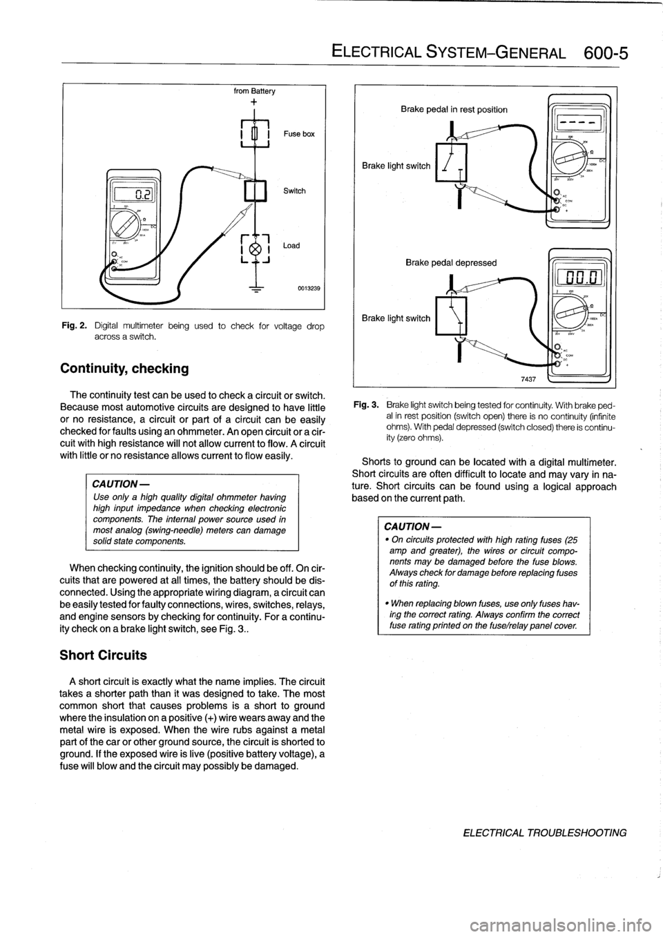 fuses bmw 318i 1998 e36 workshop manual